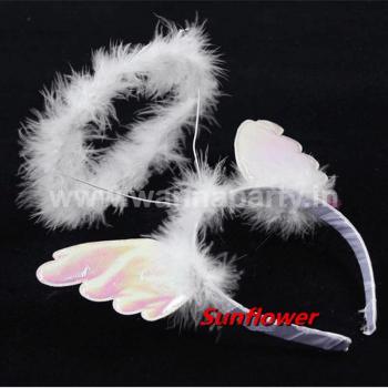 Angel Halo Headband w/Wings-0