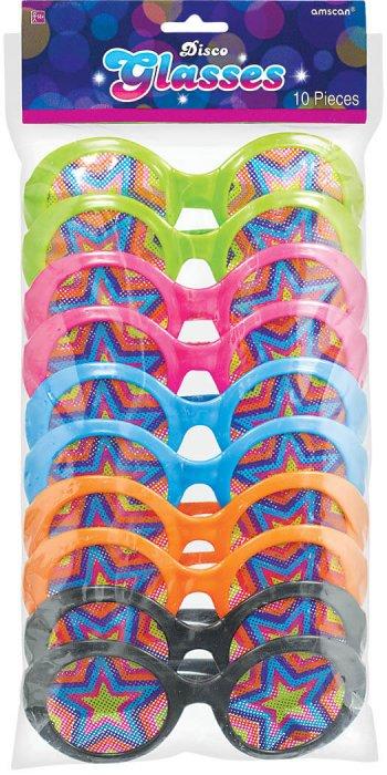 70's Disco Glass Favors - 10PC-0