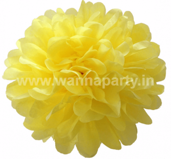 "Fluffy Decoration - Yellow 14"" - 1 PC-0"