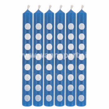 True Blue Dots Cake Candle - 12PC-0