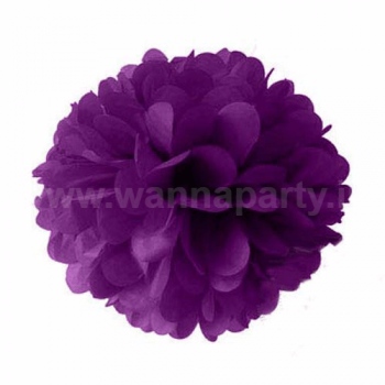 "Fluffy Decoration - Purple 14"" -1PC-0"