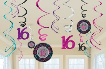 Sweet 16 Swirl Decoration-0