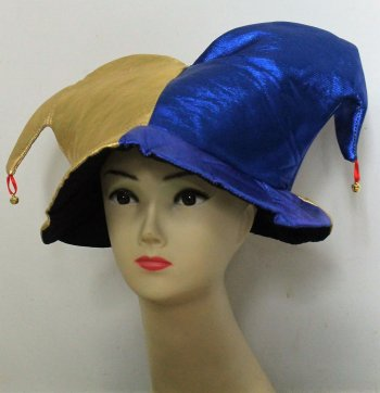 Jester Hat Gold & Blue-0