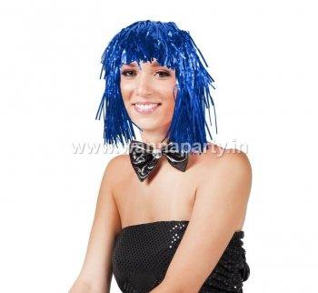 Disco Tinsel Wigs - Blue-0