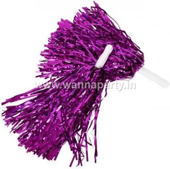 Cheerleader Pom Poms - Purple-0