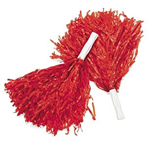 Cheerleader Pom Poms - Red-0