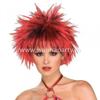Pocupine Wig Red & Black-0