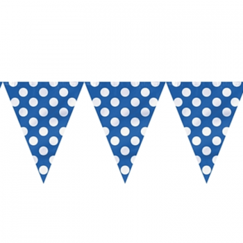 Polka Dot Buntings BLUE - Over 9 FT -0
