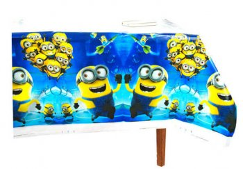 "Minnions Table Cover - 52""in X 86""in - 1PC-0"