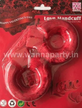 Hen Party Hand Cuffs - RED-0