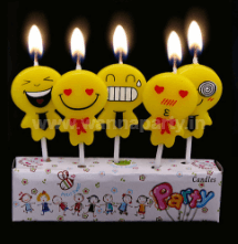 Smiley Candle - 5PC-0