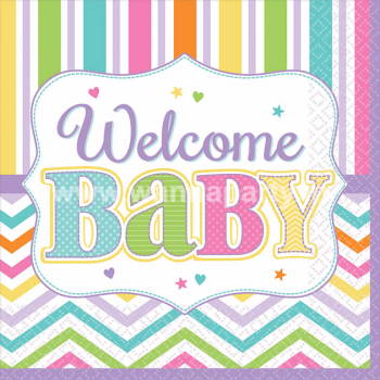 Welcome Baby Shower Dessert Napkins - 18PC-0