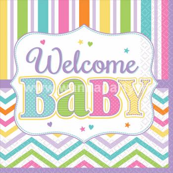 Welcome Baby Shower Dessert Napkins - 18PC-0