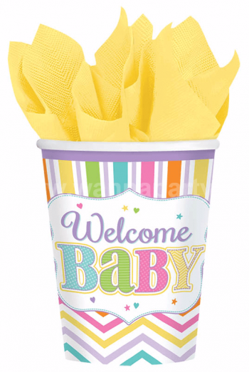 Welcome Baby Shower 9oz Cups -9PC-0
