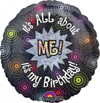 "It's All About Me Birthday Balloons 18"" S55-0"