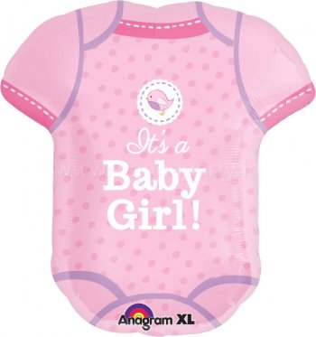 It's A Baby Girl Romper Balloons P35-0