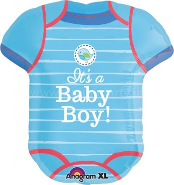 "It's a Baby Boy Romper Balloons 24"" P35-0"