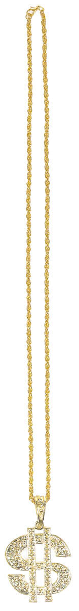 Big Daddy Gold Dollar Sign Necklace 34 in-0