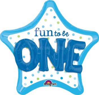 "Fun To Be One Multi Balloons 36"" P75-0"
