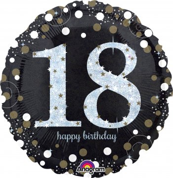 "Sparkling 18th Birthday Balloons 18"" S55-0"