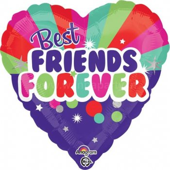 """Best Friends Forever Balloons 18""""-0"""