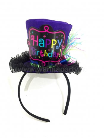 Deluxe Fancy Birthday Chich Top Hat Headband-0