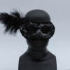 Masquerade Net Mask w/Flower & Feather-10622
