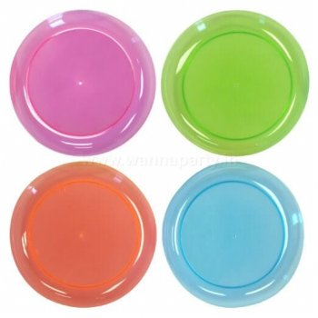 "7.5"" Neon Plastic Plates - 10PC-0"