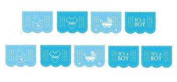 It's A Boy Plastic Banner - 12FT-0