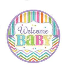 Welcome Baby Shower Dessert Plates -9PC-0