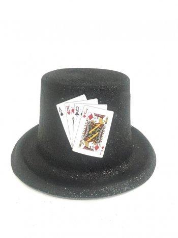 Glitter Top Hat Black with Glitter-0
