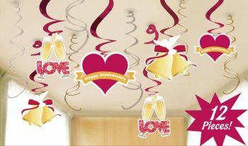Love is in the Air Anniversary Swirl Decoration - 12PC-0