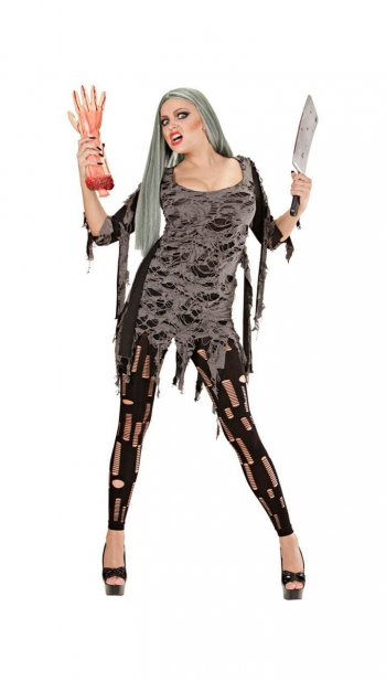 Zombie Tattered Dress Adult-0