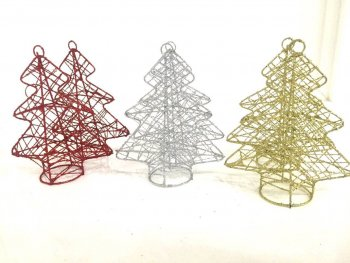 Christmas Wired Tree Hangings - 2PC (ONLINE ONLY)-0