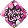 "Birthday Girl Pink & Black Balloons 18""-0"