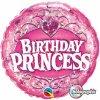 """Birthday Princes Tiara Foil Balloons 18""""-0"""