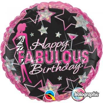 "Happy Fabulous Birthday Foil Balloons 18""-0"