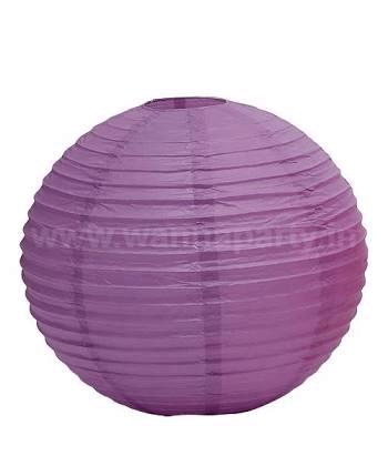 "Purple Lanterns Small 9"" - 1PC-0"