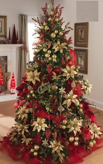 Pine Ornamental Christmas Tree Gold - 6FT-0