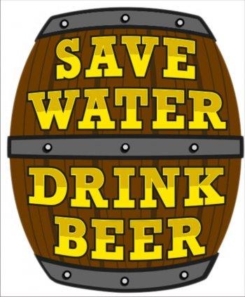 Save Water Drink Beer-0