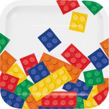 "Lego Block Party Dessert Plates 7"" - 8PC-0"