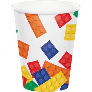 Lego Block Party 9oz Paper Cups - 8PC-0