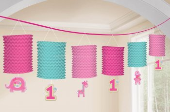 """One"" Wild Girl Lantern Paper Garland - Over 12FT-0"