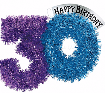 "30th Birthday Tinsel Decoration 13""-0"