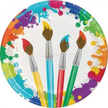 """Art Attack Lunch Plates 9"""" - 8PC-0"""