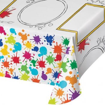 "Kids Activity Art Attack Paper Tablecover 54x96""-0"