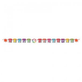 Happy Birthday Letter Banner Art Attack - 9FT-0