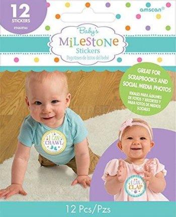 Baby Milestones Stickers - 12PC-0