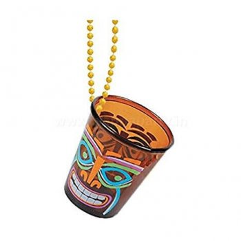 Tiki Beach Chain Shot Glaases 2Oz-0