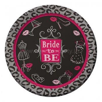 "Bridal Bash Desser Plates 7"" - 8PC-0"